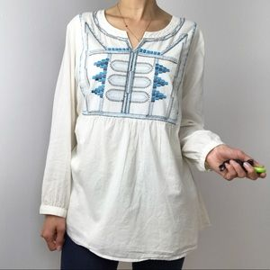 Anthropologie Beautiful Stories Embroidered Tunic